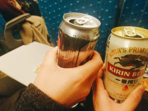 【オフ会帰りLive】新幹線でさっそく慰労会