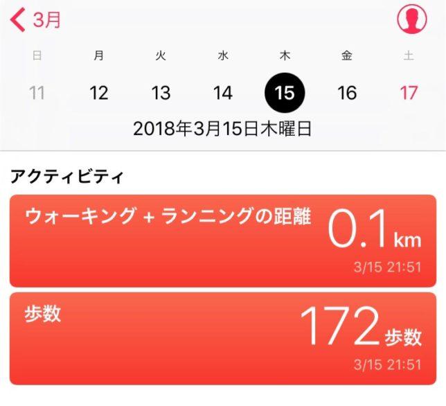 1日172歩ってありえない