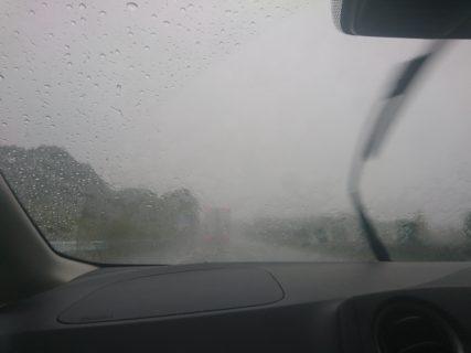 【オフ会帰りLive】大雨で前が見えません