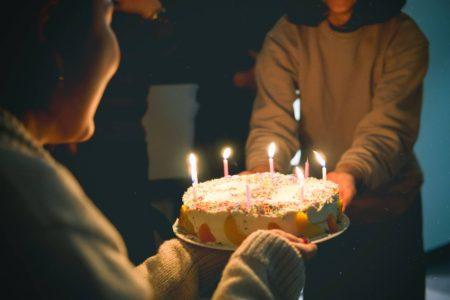手作りケーキをプレゼントされました